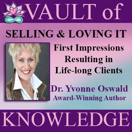 """Dr Yvonne Oswald Selling It First Impressions"""